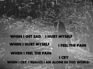 ... Pain When I Feel The Pain I Cry When I Cry, I Realize I Am Alone In