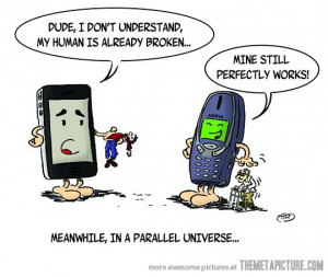 Funny photos funny Nokia cell phone drawing comic