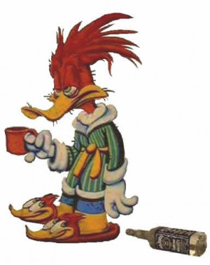 Woody Woodpecker hungover Image