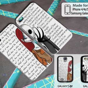 Sally And Jack Skellington Quotes Couple Halloween Art Case For Iphone ...