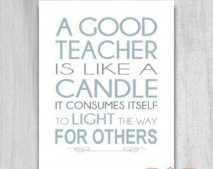Teacher Appreciation Gift Print QUI CK Unique Word Art PRINTABLE QUOTE ...