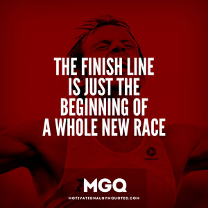 The finish line…