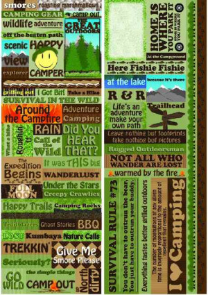 Fall Camping Quotes Camping quotes stickers