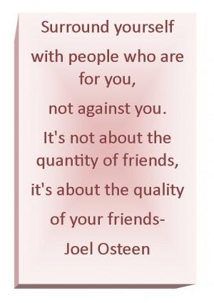 Friends....Love Joel Osteen!