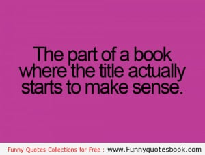 Funny Quotes about Books