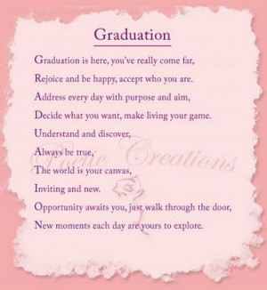 poems for graduating daughters | religious graduation poems