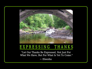Let Our Thanks Be Expressed, Not Just For What We Have, But For What ...