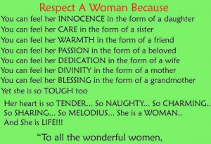 Respect Every Woman
