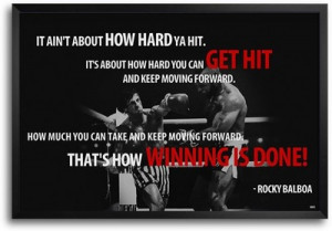 Buy Rocky Balboa Quotes FP00004633 Framed Poster: Poster