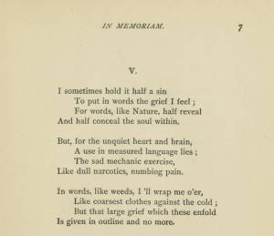 Two of my favorite stanzas from In Memoriam featured below. I only ...