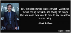 relationships that I see work - As long as they're telling the truth ...