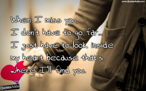 Miss you Quotes for Her, Miss You Quotes with Images, Best Miss You ...