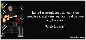 More Randy Bachman Quotes