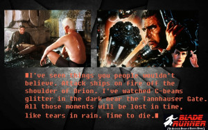 Movies Quotes Blade Runner Harrison Ford Science Fiction Rutger Hauer ...