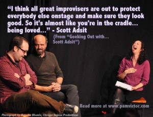 Scrumptious Improv Quotes: Scott Adsit of