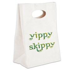 Yippy Skippy (Colorful swirl) Canvas Lunch Tote for