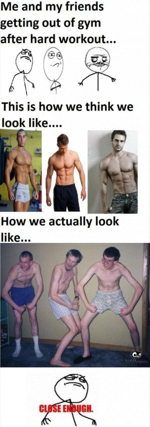 funny workout pictures, close enough