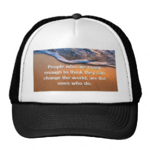 Inspirational quotes trucker hat