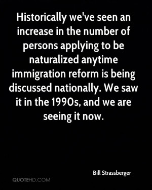 ... reform is being discussed nationally. We saw it in the 1990s, and we