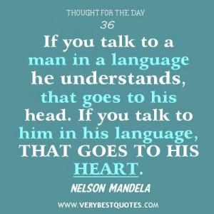 ... quotes communication quotes nelson mandela quotes language quotes