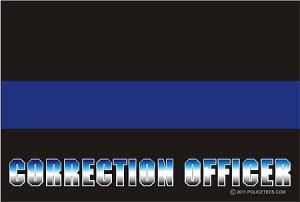 Thin Blue Line Correction Officer Decal