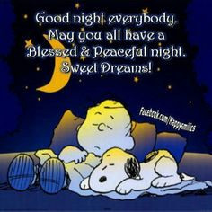 Good night everybody!! May you all have a Blessed & Peaceful night ...
