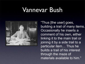 vannevar bush essays Immediately download the vannevar bush summary, chapter-by-chapter analysis, book notes, essays, quotes, character descriptions, lesson plans, and more - everything you need for studying or teaching vannevar bush.