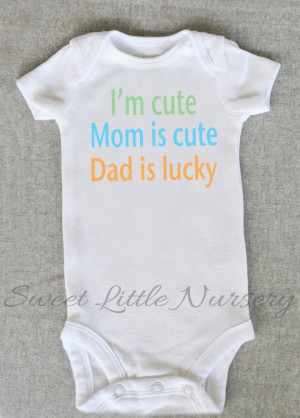 Cute baby Onesie Bodysuit- Funny Quote - Baby Boy or Girl Clothing - I ...