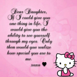 Daughter #Mom #Quotes #Sayings #HelloKitty: Daughters Mom, Dear ...