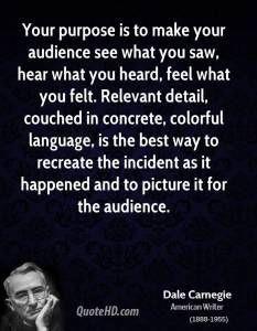 The purpose of public speaking...