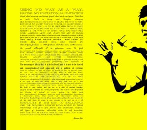 bruce lee quotes typography yellow background 2400x1600 wallpaper High ...