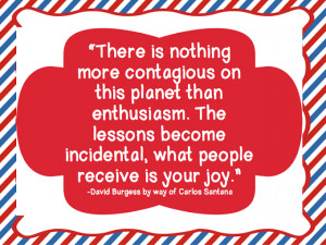 Enthusiasm is about MAKING SOMEONE'S DAY!