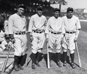 Murderers Row-Lou Gehrig-Earle Combs-Tony Lazzeri-Babe Ruth: Combs ...