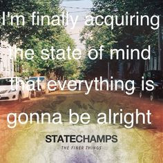 one of my favorite lyrics from their album. Elevated-state champs More