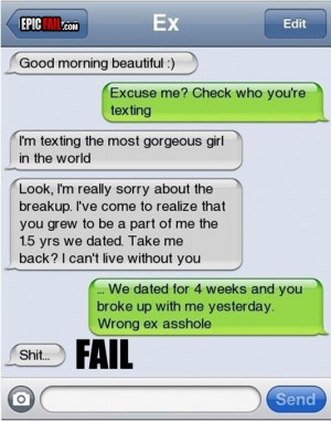 The Wrong Ex Text