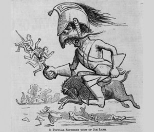 Bleeding Kansas Cartoon An 1858 cartoon in harpers