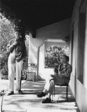 Aldous Huxley and Julian Huxley in Paris