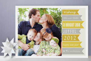30 Holiday Photo Card Design Ideas Using Family Portraits with Quotes