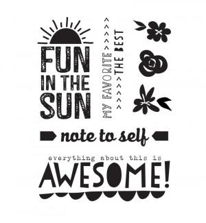 Shine - Fun In The Sun Stamp
