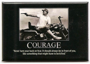FM060 - Courage Hunter Thompson Quote Fridge Magnet