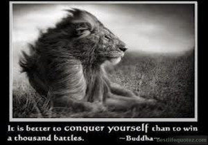 It is better to conquer yourself - Leadership Quotes FB DPs
