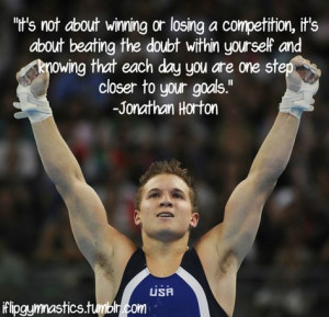 It's not about winning or losing a competition. It's about beating the ...