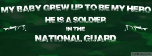 My baby is a soldier in the National Guard
