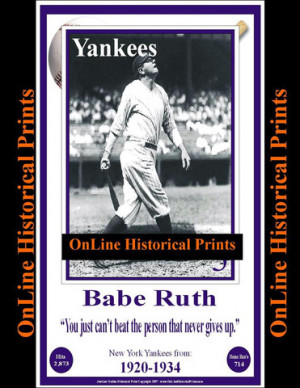 11 x 17 babe ruth print only $ 9 99 11 x 17 babe ruth framed print $ ...