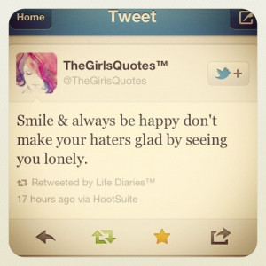 Just smile #quotes #twitter (Taken with instagram )