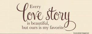 Facebook cover photos love quotes - love story