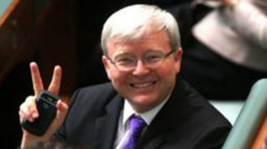 Kevin Rudd's new Twitter photo. Source: Supplied