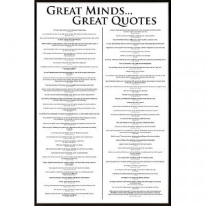 Great Minds and Great Quotes, Inspirational Poster Prints, 24-by-36 ...