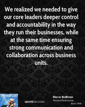 Collaboration Quotes Steve ballmer quotes