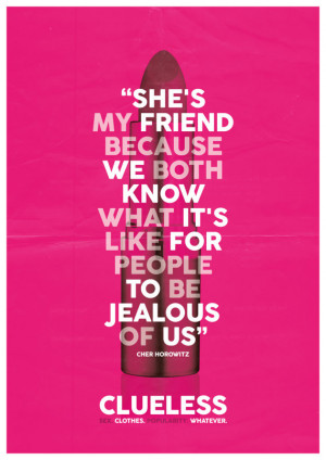 Clueless Quote A3 Poster